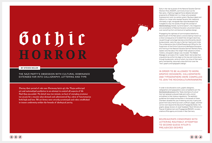 Gothic Horror introduction spread