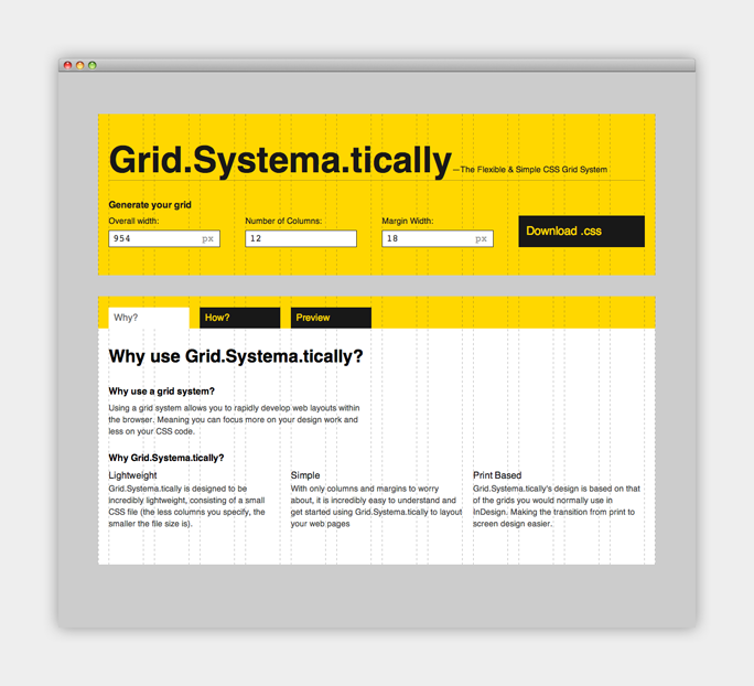 Why use a grid system