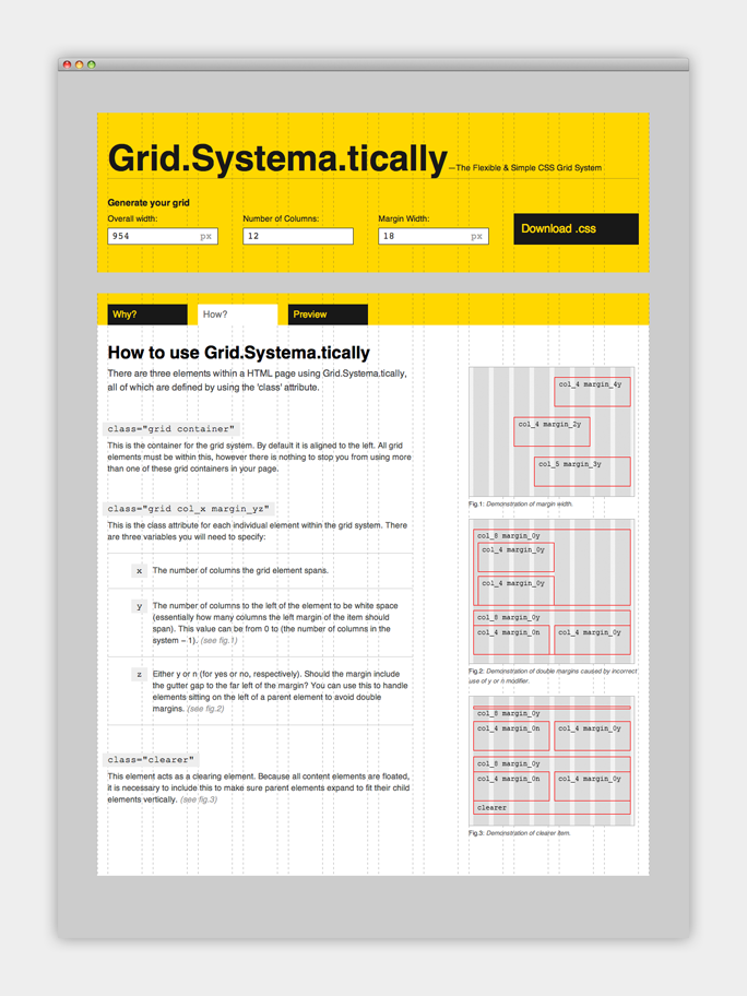 How to use the grid system